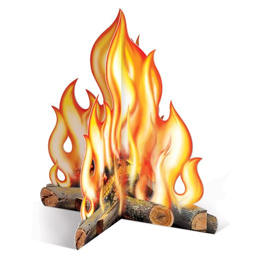 Western Decorations 3D Campfire Centerpiece Image