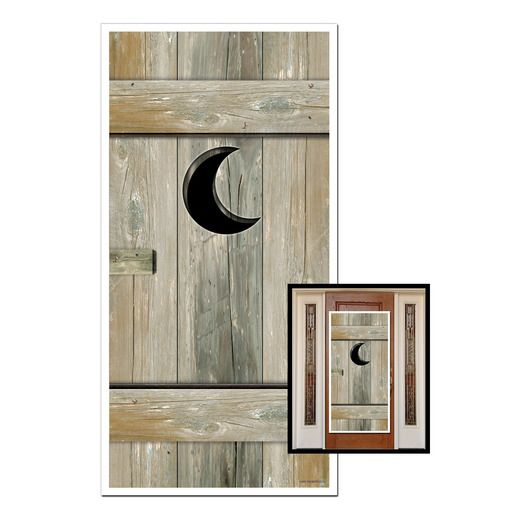 Western Decorations Outhouse Door Cover Image