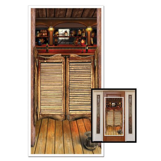 Western Decorations Saloon Door Cover Image