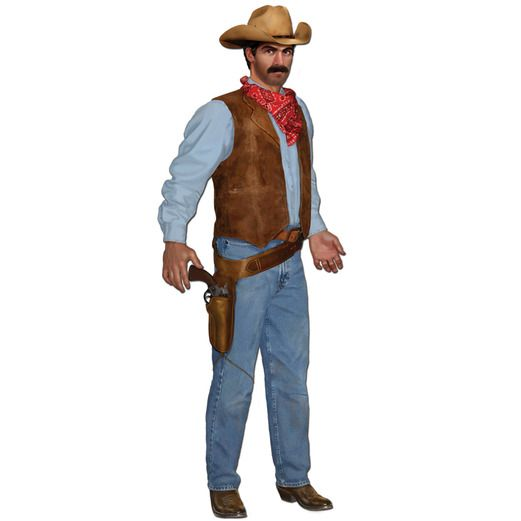 Western Decorations Cowboy Cutout Image