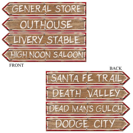 Western Decorations Western Sign Cutouts Image