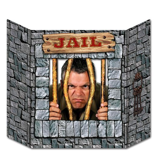 Decorations / Scenes & Props Jail Photo Prop Image