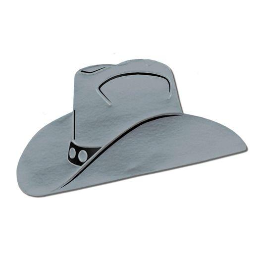 Western Decorations Silver Foil Cowboy Hat Cutout Image