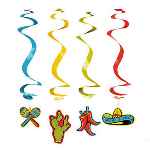 Fiesta Decorations Fiesta Hanging Swirls Image
