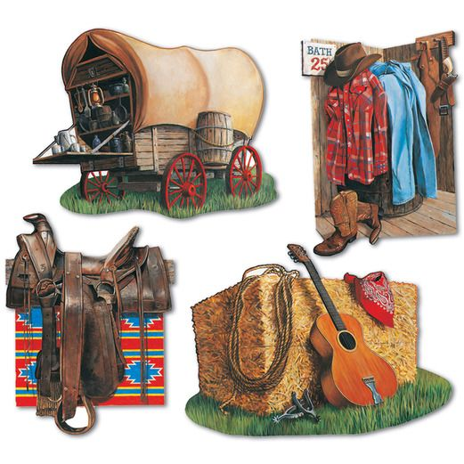 Western Decorations Cowboy Cutouts Image