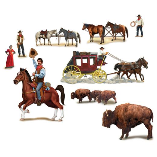 Western Decorations Wild West Character Props Image