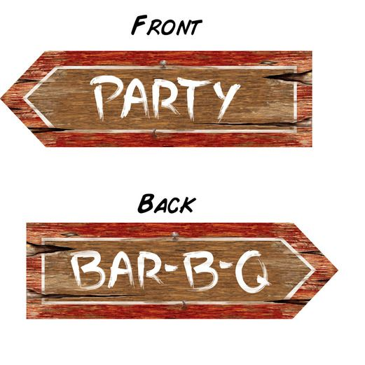 Western Decorations Redneck Party Sign Image