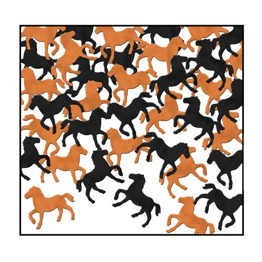 Western Decorations Horses Confetti Image