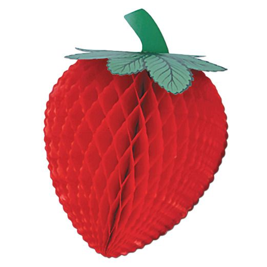 "Spring & Summer Decorations 14"" Tissue Strawberry Image"