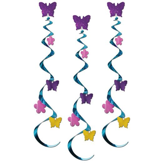 Easter Decorations Butterfly & Flower Whirls Image