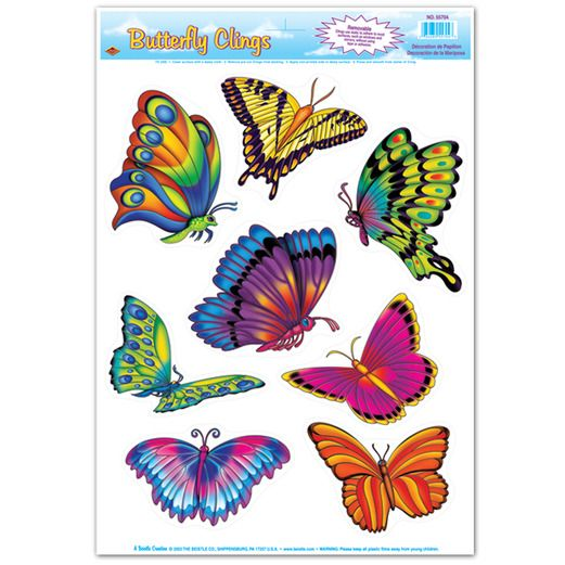 Mother's Day Decorations Butterfly Glass Clings Image