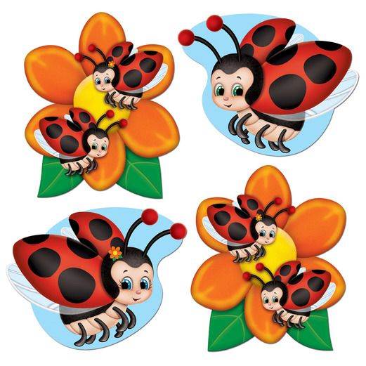 Mother's Day Decorations Mini Ladybug Cutouts Image