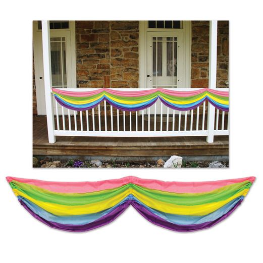Decorations Spring Rainbow Fabric Bunting Image