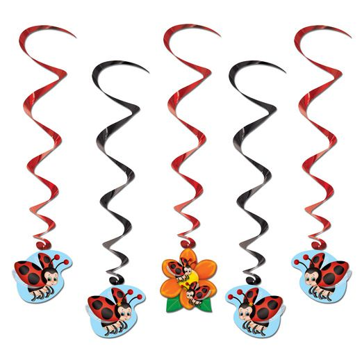 Spring & Summer Decorations Ladybug Whirls Image