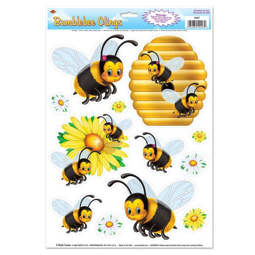 Spring & Summer Decorations Bumblebee Clings Image