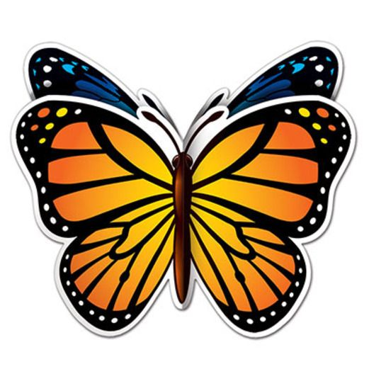 Spring & Summer Decorations 3-D Butterfly Centerpiece Image