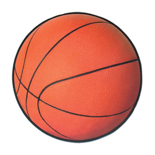 Sports Decorations Basketball Cutout Image