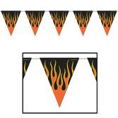 60s & 70s Decorations Flame Pennant Banner Image
