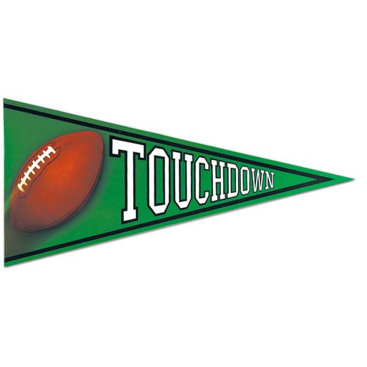 Sports Decorations Football Pennant Cutout Image