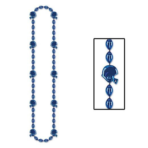 Sports Party Wear Football Beads Blue Necklace Image