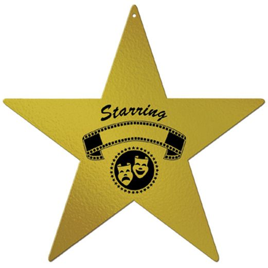 Awards Night & Hollywood Decorations Foil Awards Night Star Image