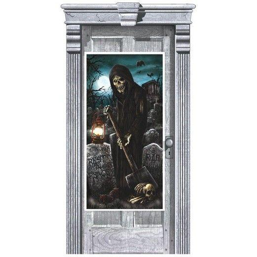 Halloween Decorations Cemetery Door Cover Image
