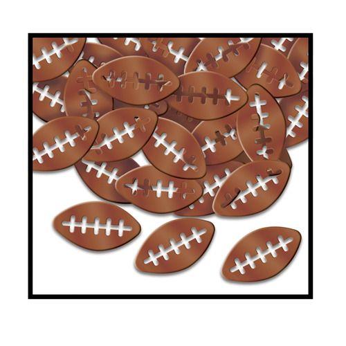 Metallic Football Confetti