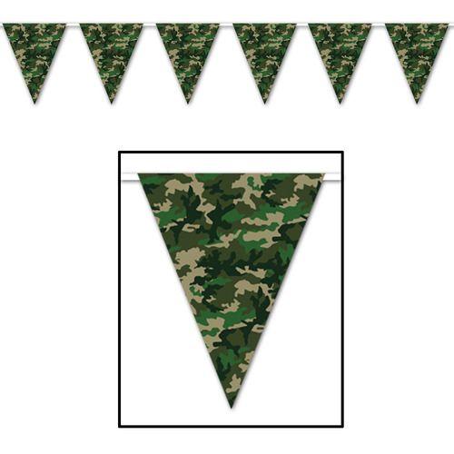 Camo Flag Pennant Banner