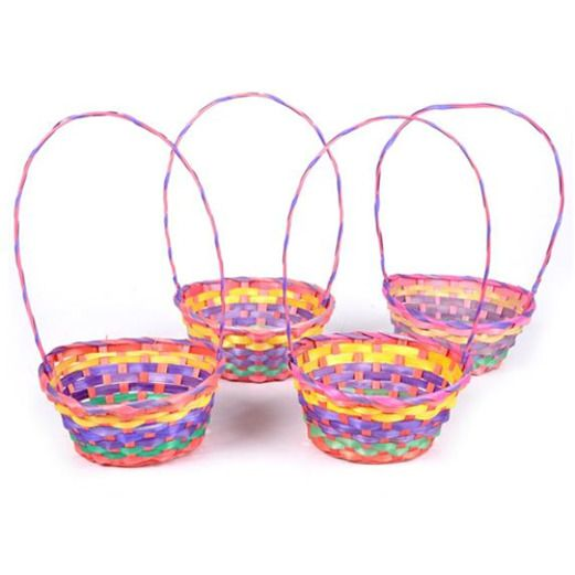 Easter eggs and baskets easter party supplies at amols rainbow easter basket easter gift bags negle Gallery