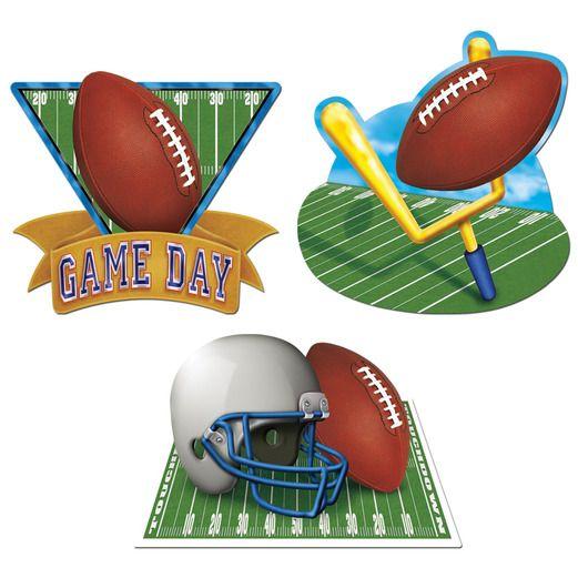 Decorations / Cutouts Game Day Football Cutouts Image