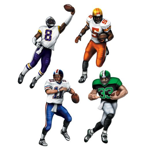 Sports Decorations Football Cutouts Image