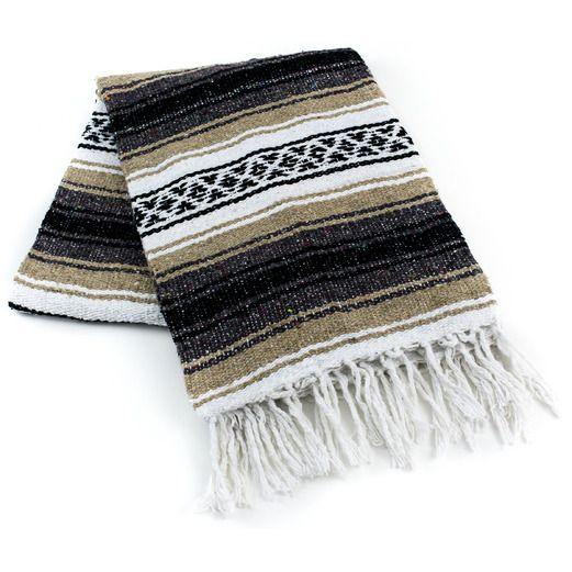 Beige Mexican Blanket