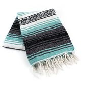 Serapes & Blankets Mint Green Mexican Blanket Image