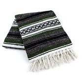 Fiesta Decorations Olive Green Mexican Blanket Image