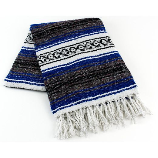 Cinco de Mayo Decorations Royal Blue Mexican Blanket Image