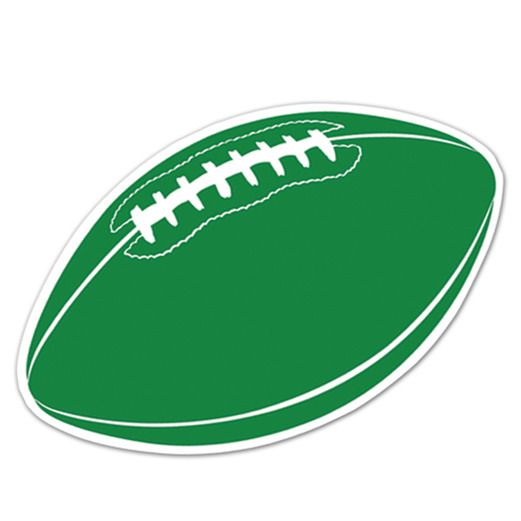 Sports Decorations Green Football Cutout Image