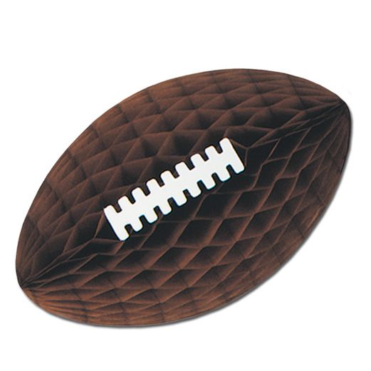"Sports Decorations 28"" Brown Tissue Football Image"