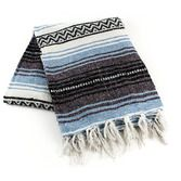 Cinco de Mayo Decorations Light Blue Mexican Blanket Image
