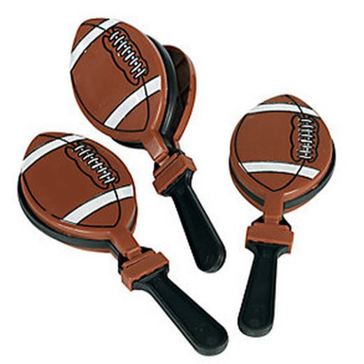 Sports Favors & Prizes Plastic Football Clappers Image