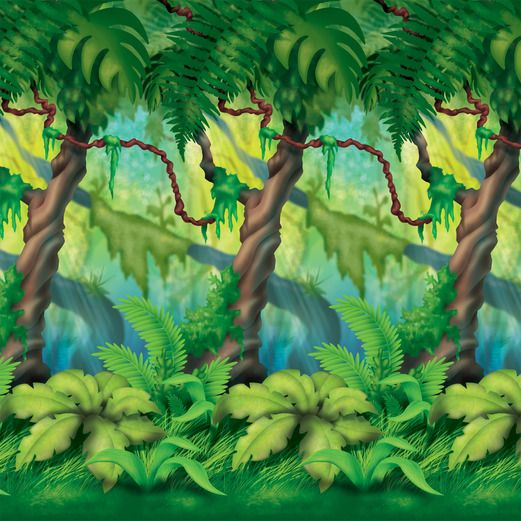 Jungle & Safari Decorations Jungle Trees Backdrop Image