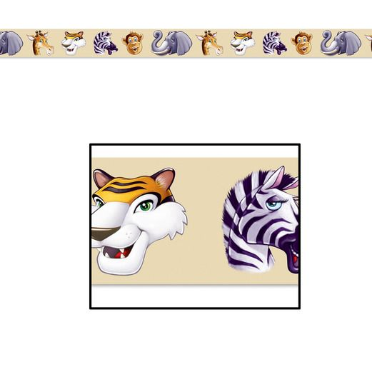 Birthday Party Decorations Animal Party Tape Image
