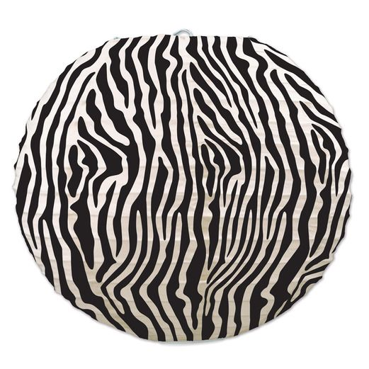 Jungle & Safari Decorations Zebra Print Lanterns Image