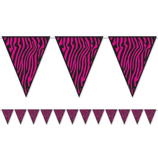 Jungle & Safari Decorations Zebra Print Pennant Banner Image