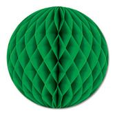 """Decorations / Hanging Decorations 12"""" Green Tissue Ball Image"""