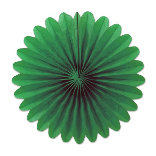 Decorations Green Mini Tissue Fans Image