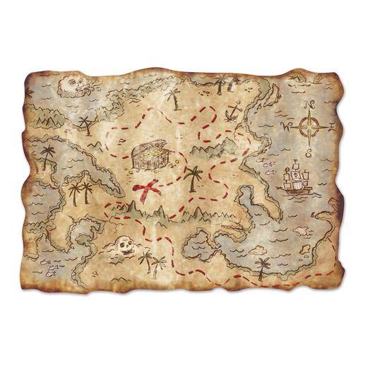 Pirates Decorations Jumbo Treasure Map Image
