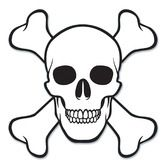 Halloween Decorations Skull Crossbones Cutout Image