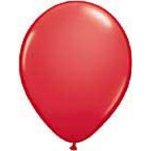 Balloons 3' Red Latex Balloon Image