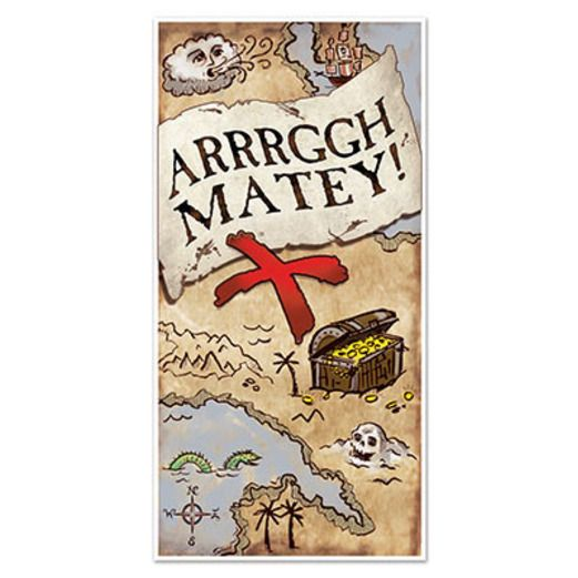 Pirates Decorations Treasure Map Door Cover Image