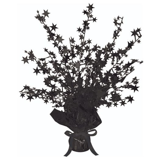 New Years Decorations Black Starburst Centerpiece Image